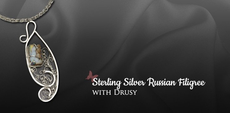 Sterling Silver Russian Filigree
