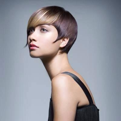 Stylish hair colored by the professionals