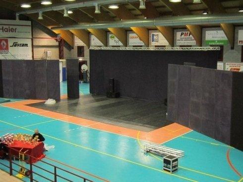 allestimento palcoscenico in palestre Brescia