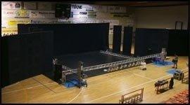 Allestimento palco per premiazione