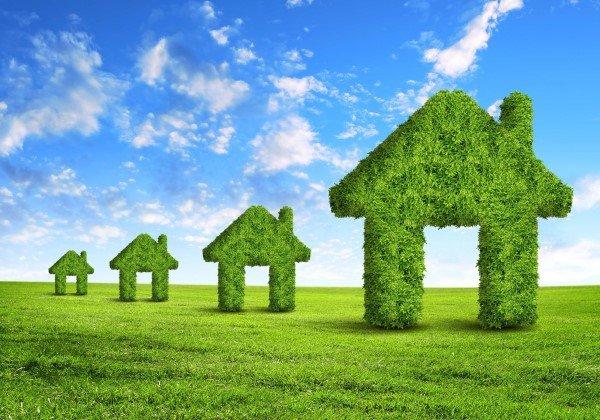 delle case fatte di erba