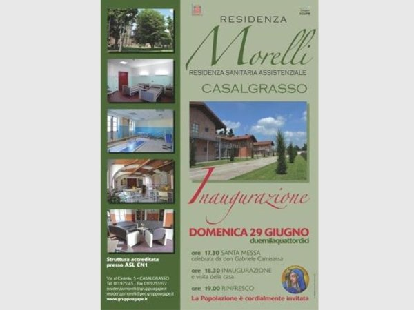 Residenza Morelli Inaugurazione
