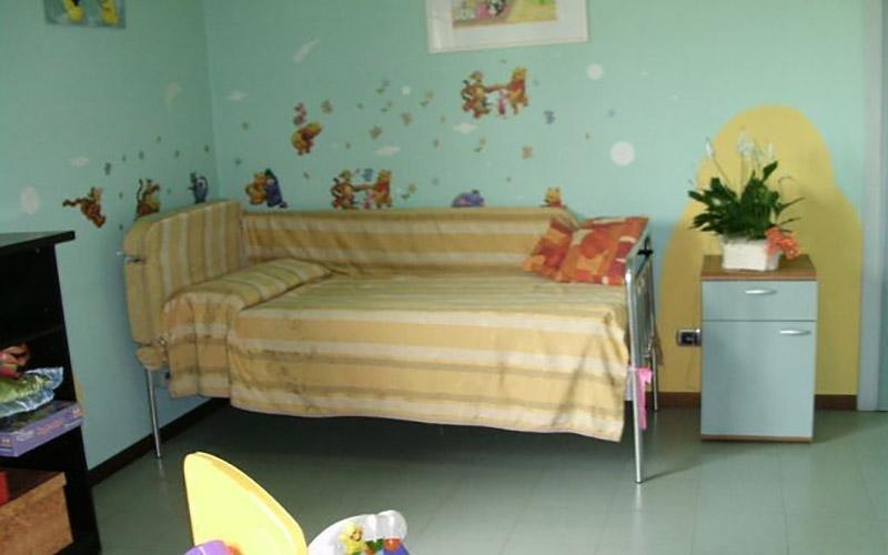 Giovanni XXIII camera con letto singolo