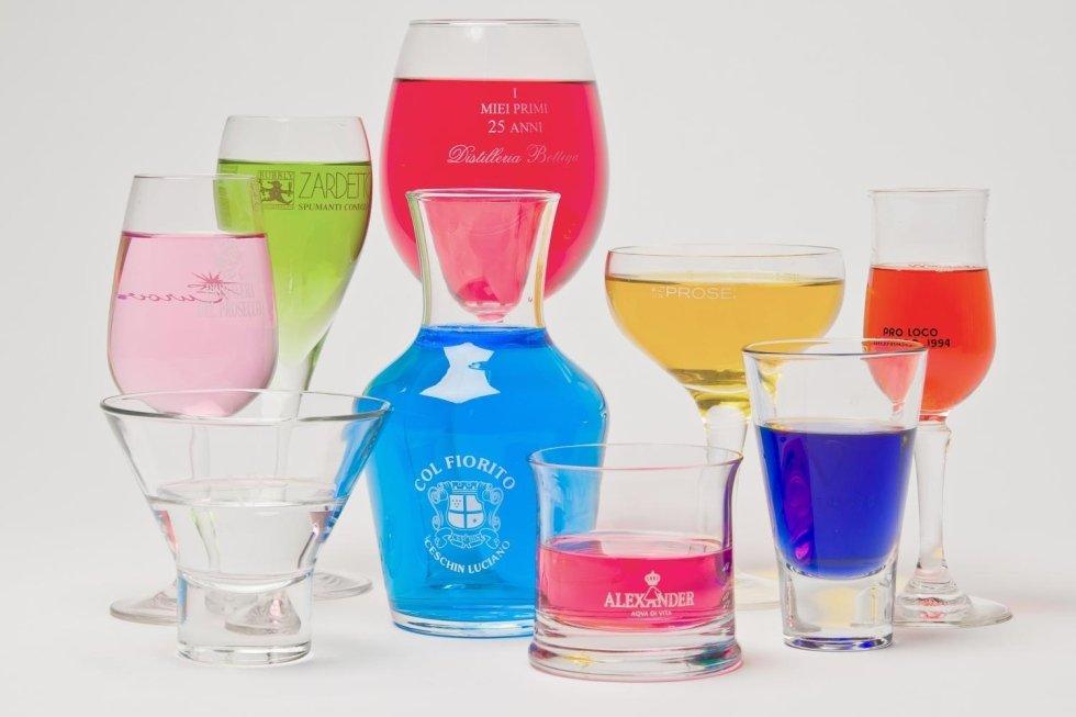 serigrafia su bicchieri