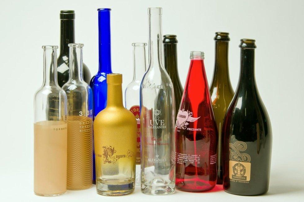 serigrafia su bottiglie