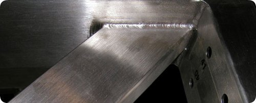 primo piano di un pannello in acciaio inossidabile