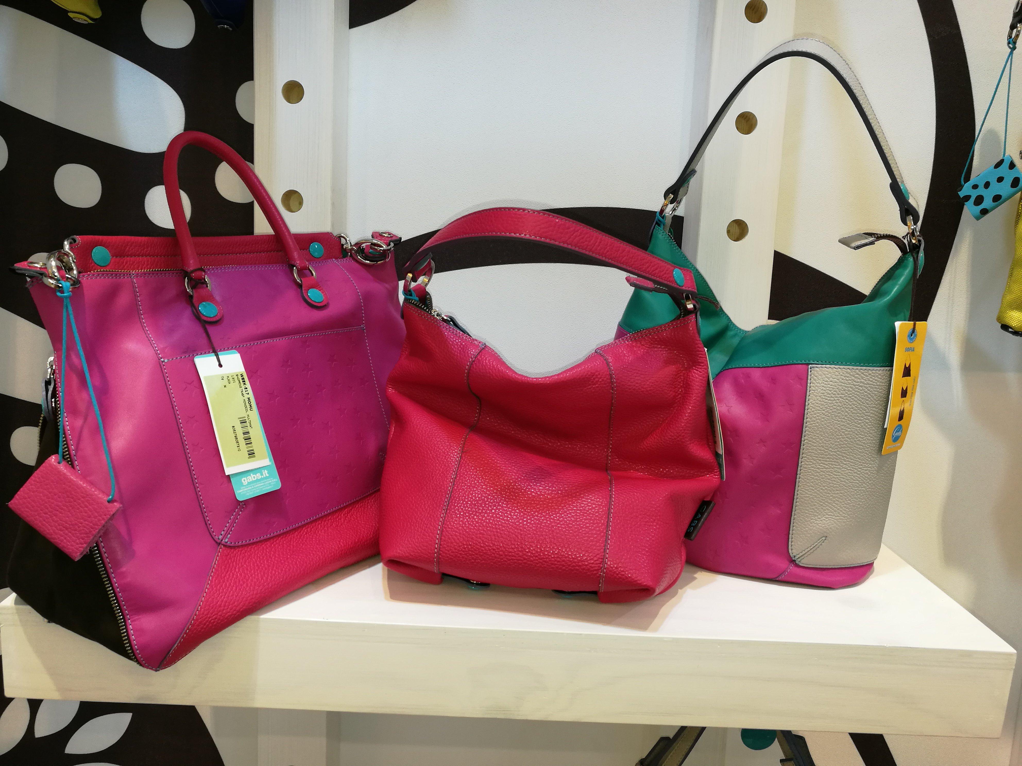 set di borse colorate