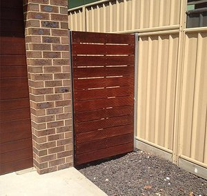 Industrial estate fencing at a home in Albury