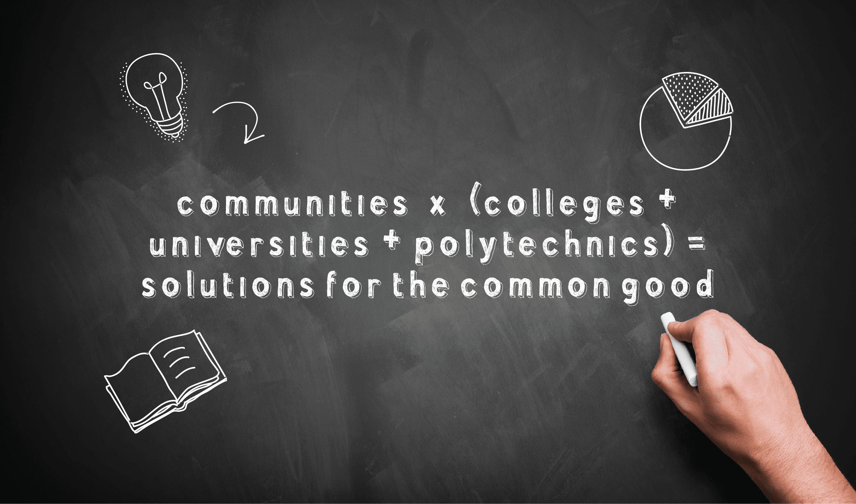 Communities + Colleges + Universities = Better World