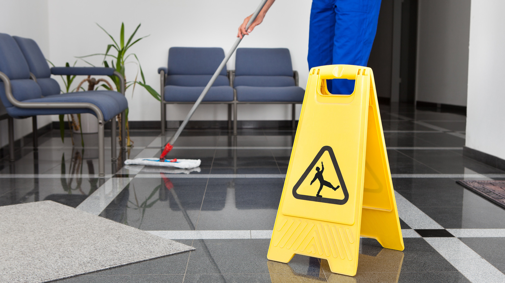 Expert performing excellent cleaning services in a commercial area in Waterbury, CT
