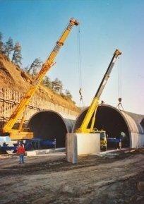 Cantiere per costruzione gallerie