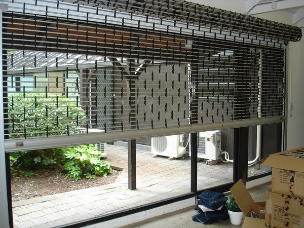 View of a roller grille