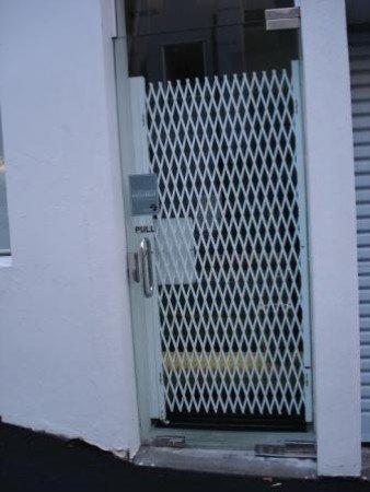 Double Diamond emergency exit door