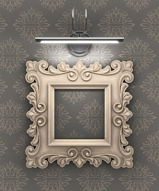 lit decorative picture frame
