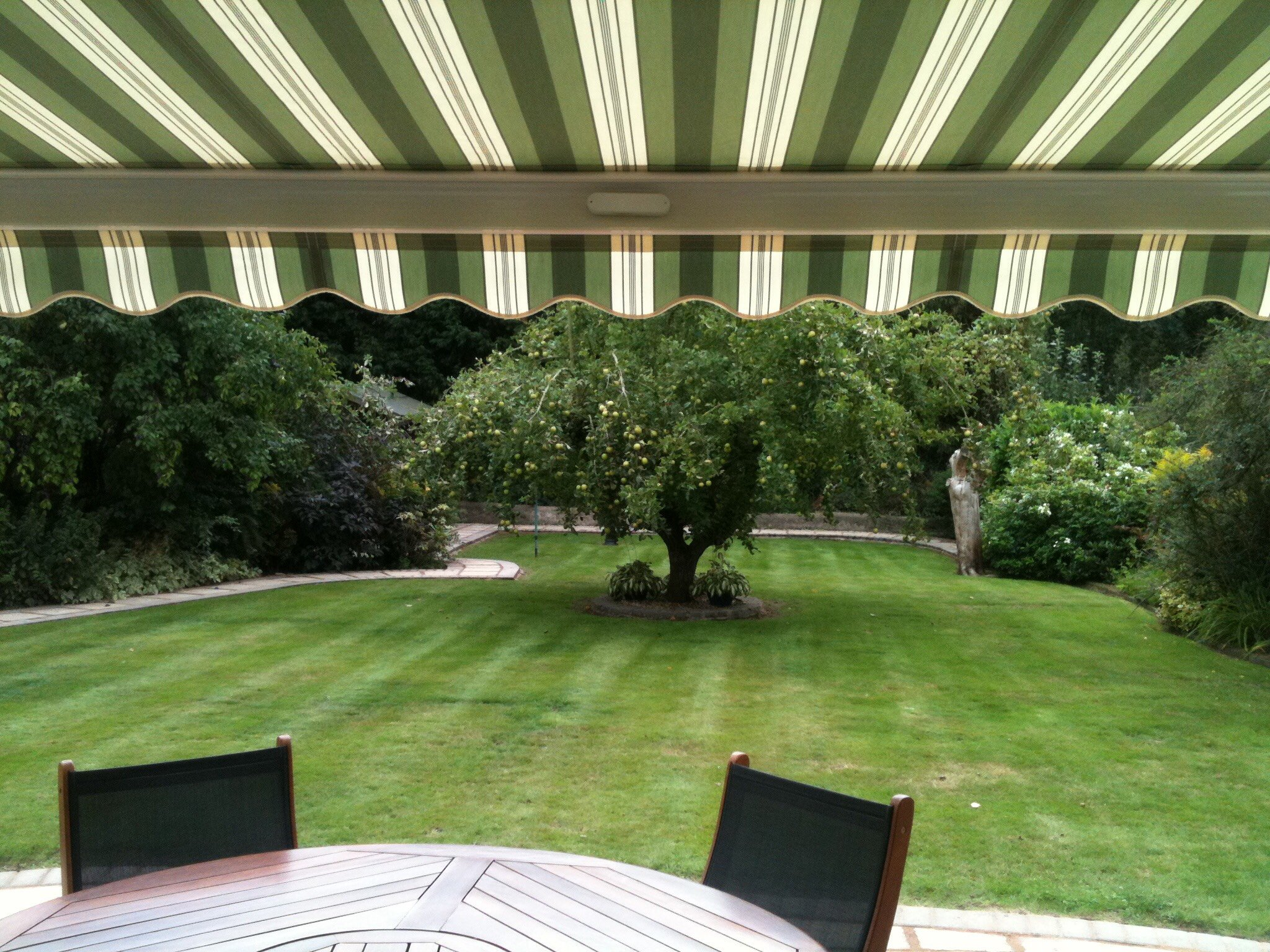 awning overlooking garden