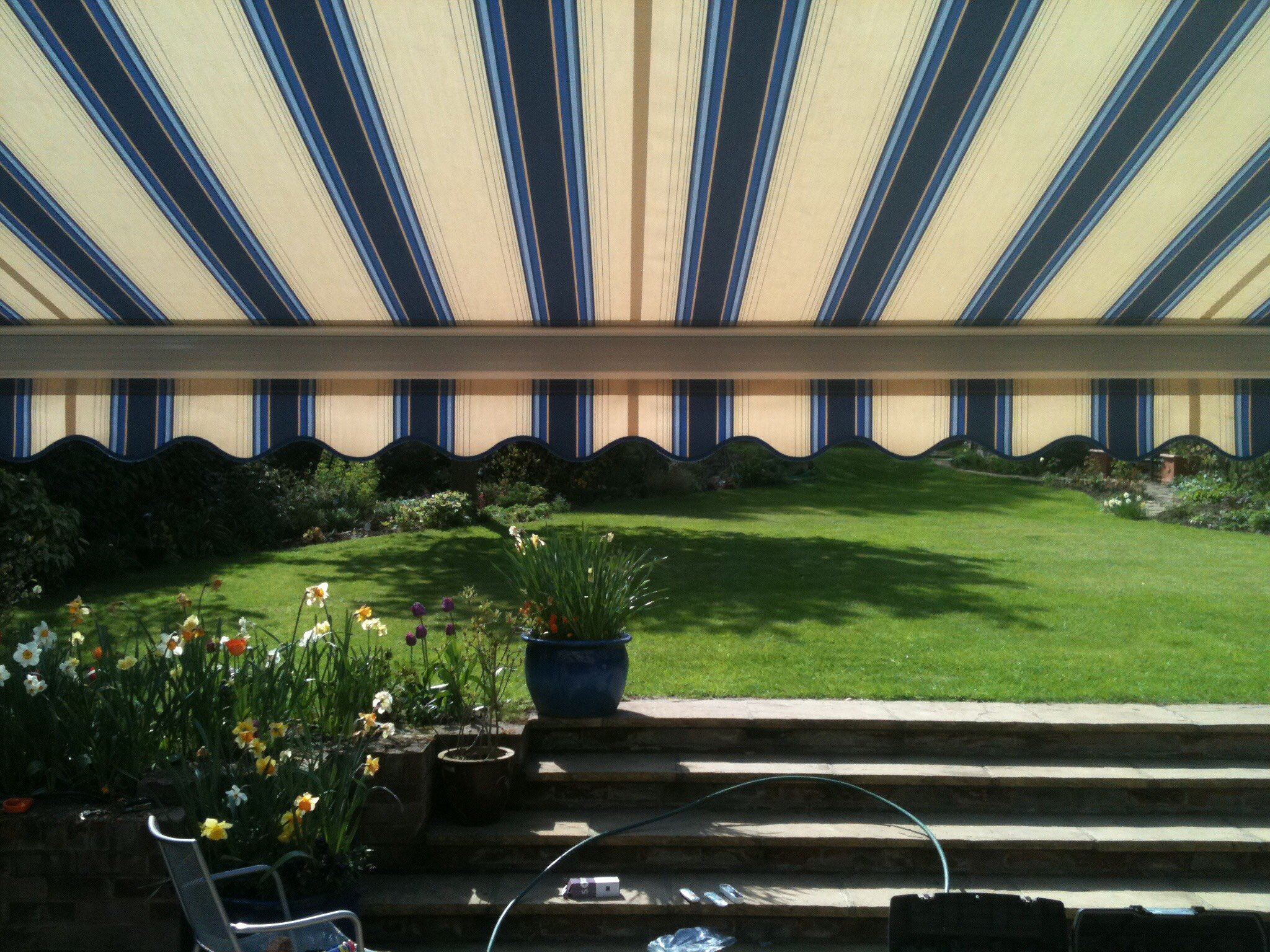 awning in garden