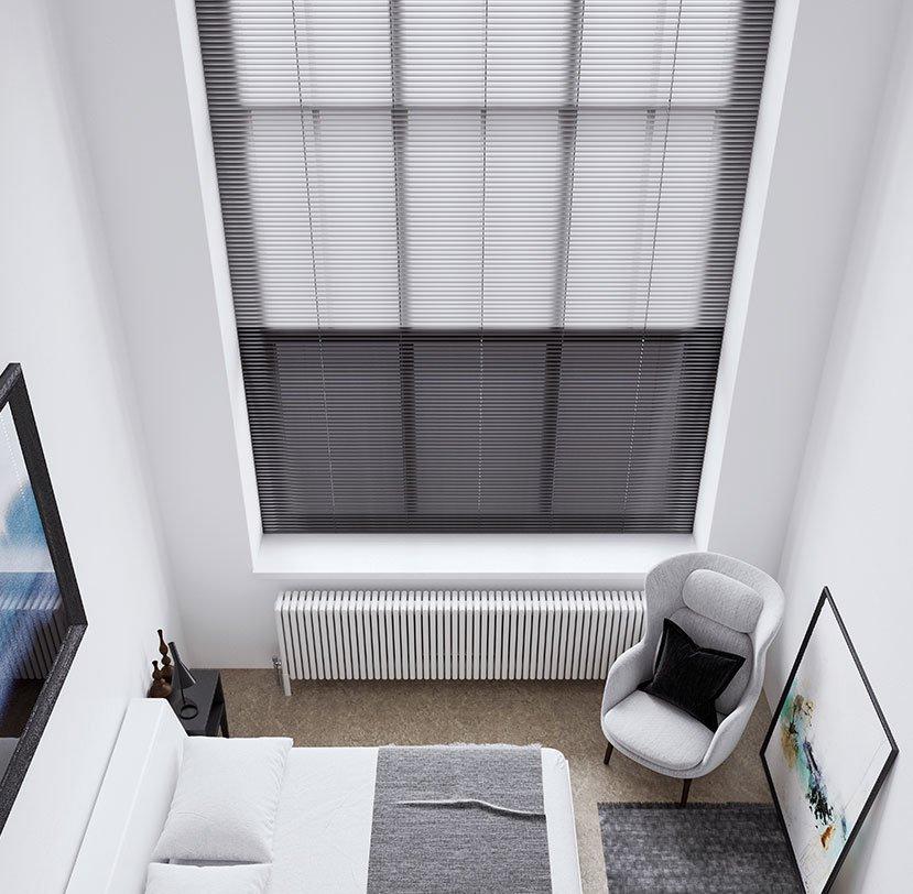 dark venetian blinds