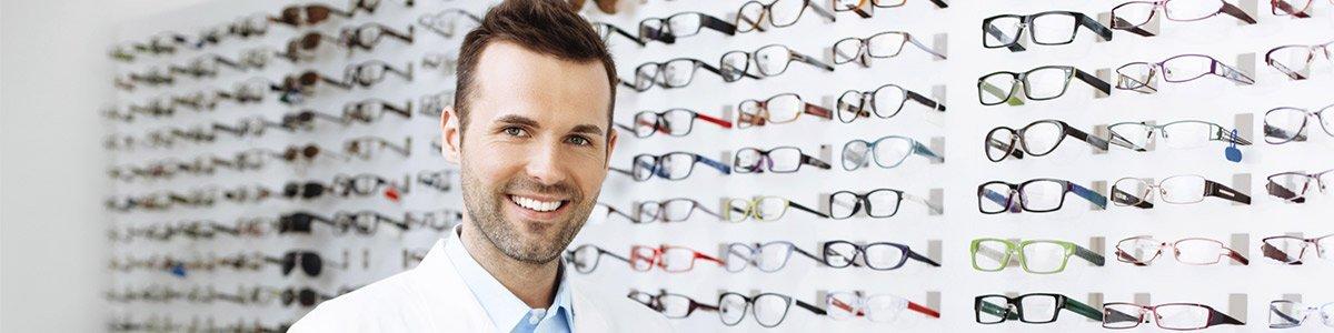 see side optical sales man in eye store