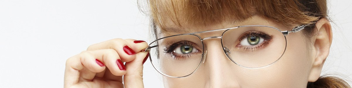 see side optical lady with glasses