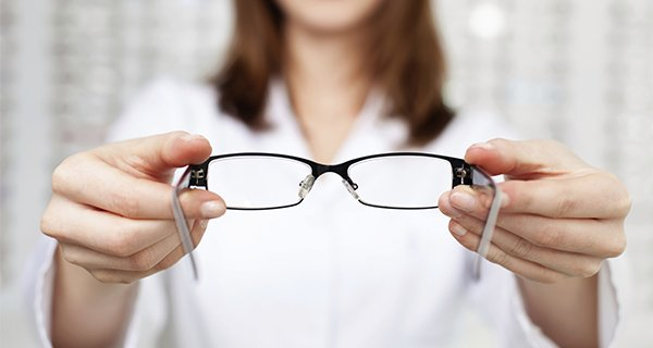 see side optical lady glasses hand