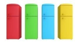 frigoriferi a due porte, frigoriferi combinati, frigoriferi colorati