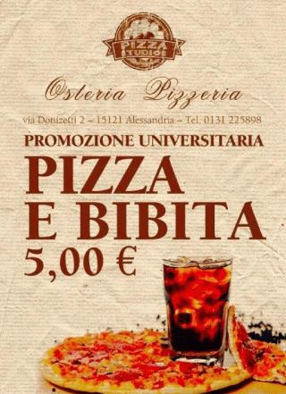 promozione pizza e bibita