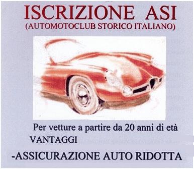 iscrizione asi auto storiche