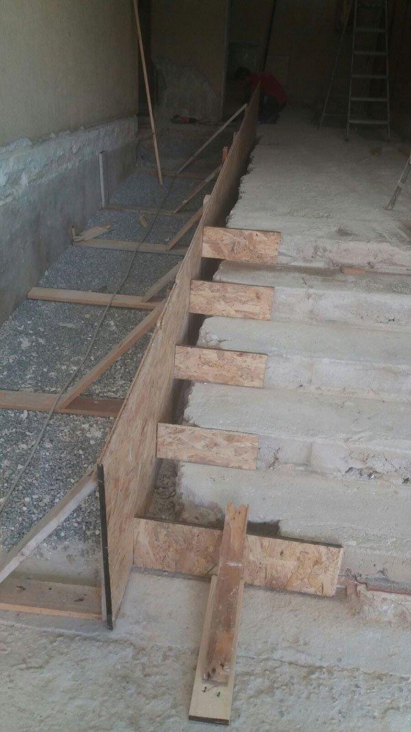 Costruzione scale in cemento armato