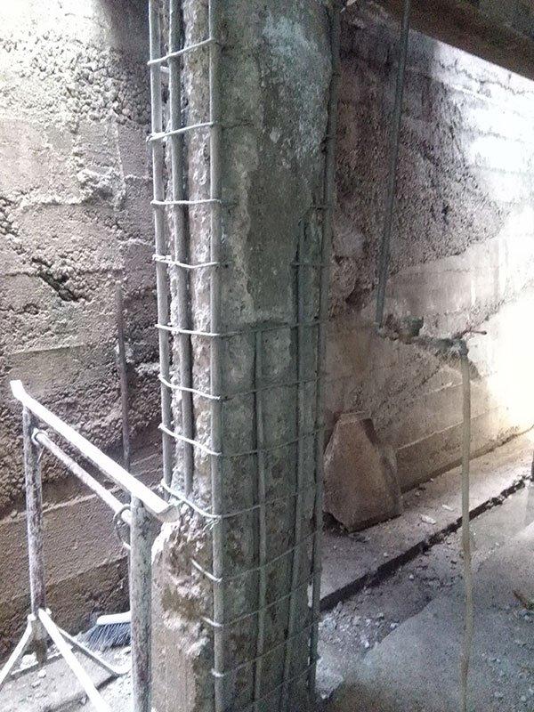 Ristrutturazione pilastro presso Tricoli Di Della Pietra Gesuela