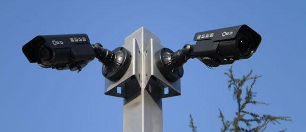 Telecamere di videosorveglianza a Palermo