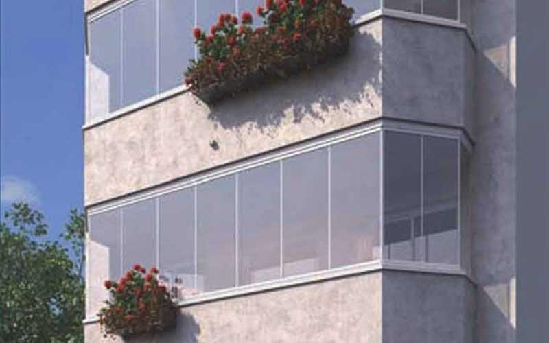 vetrata pieghevole impacchettabile
