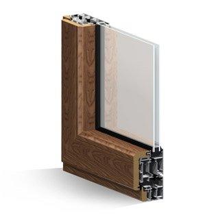 ponzio alluminio-legno, porta