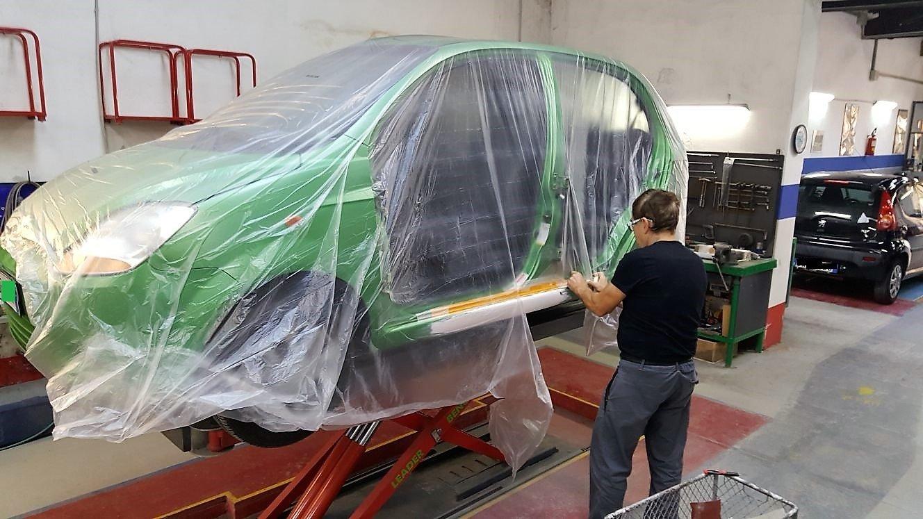sospensione modificata  vecchia Fiat 500