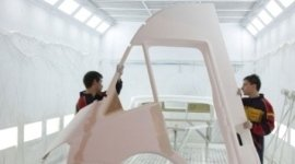 Preparazione e verniciatura vetroresina componenti camper