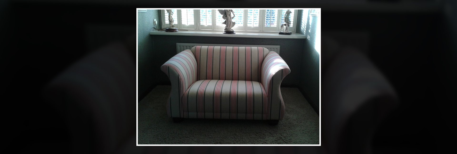 single upholstered sofa