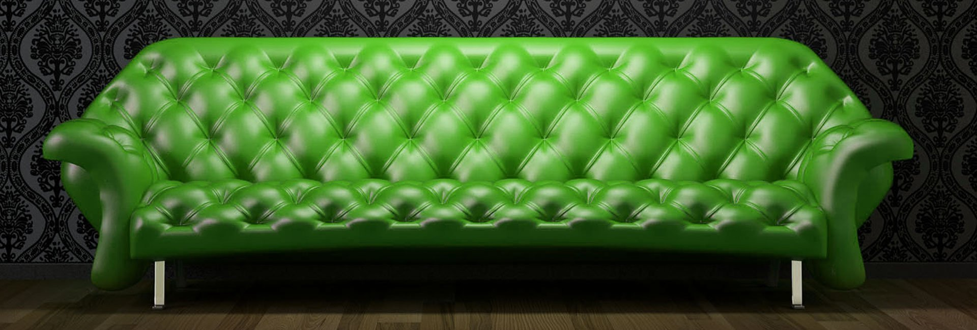 green sofa upholstery