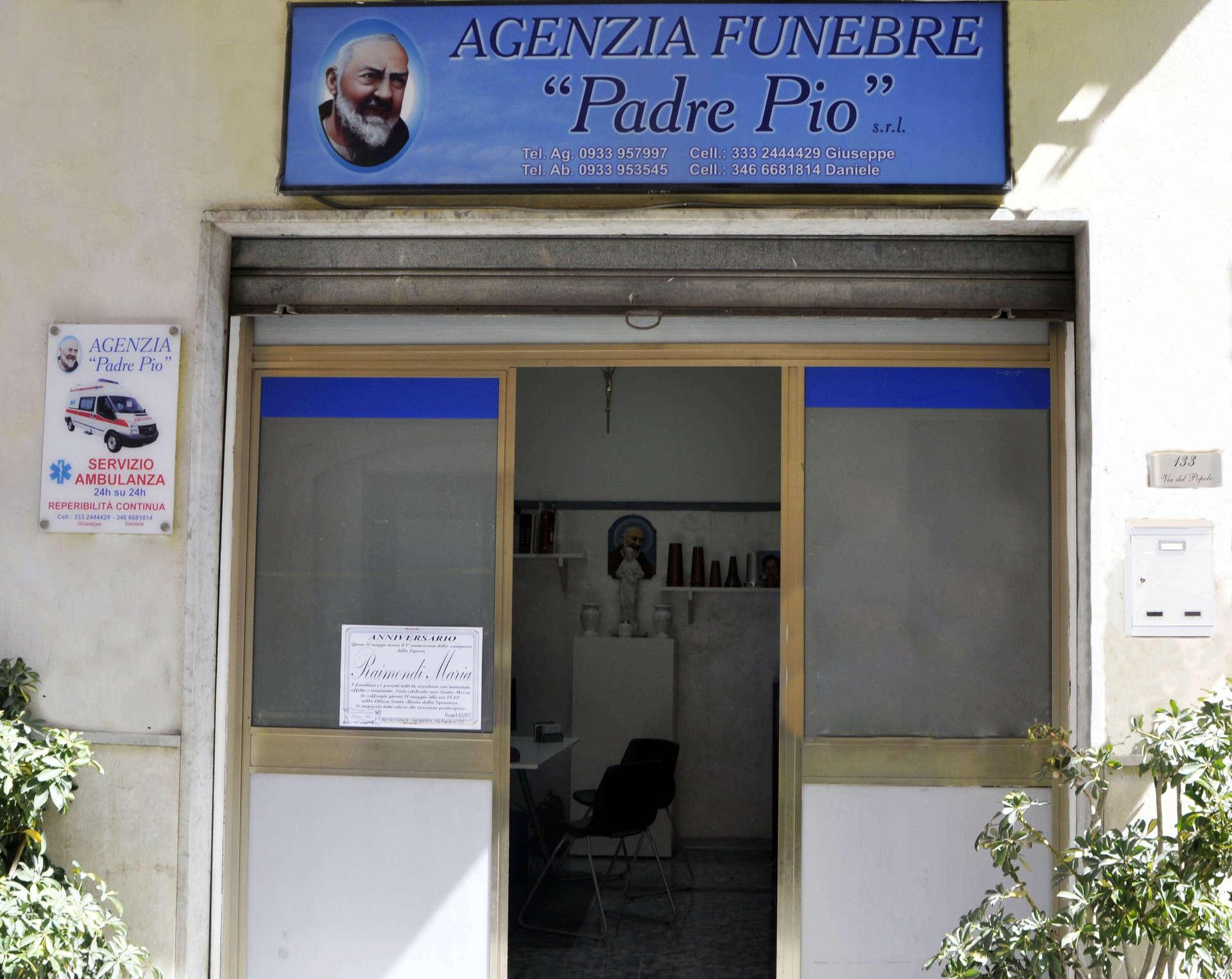 ingresso agenzia funebre