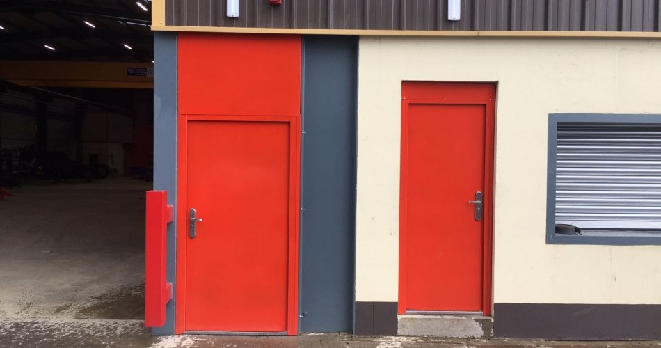 red colour doors