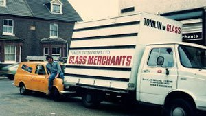 GLASS MERCHANTS van