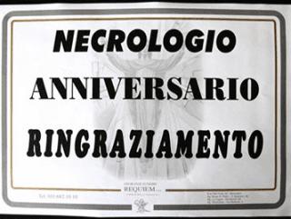 Organizzazione cerimonia e necrologi