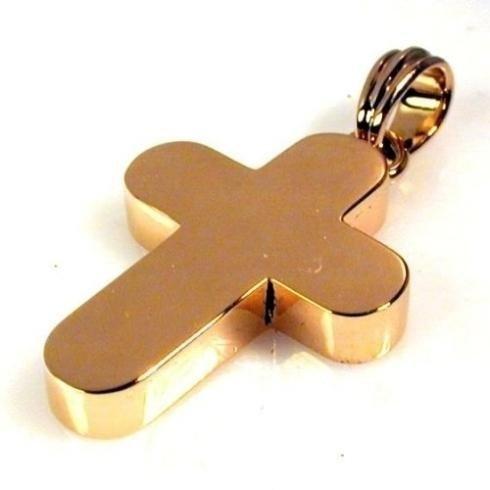 Croce oro rosa scatolata