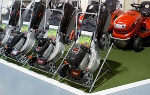 Walk behind Lawnmowers in our showroom