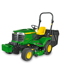 Commercial rear collect lawn tractor