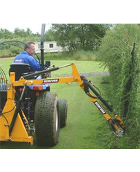 Tractor c/w rear hedge trimmer arm