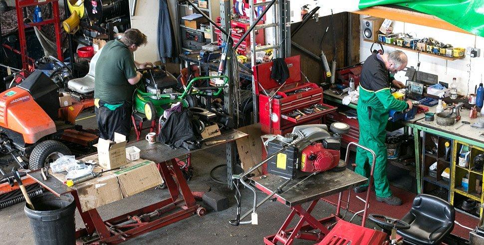 Men working in our workshop