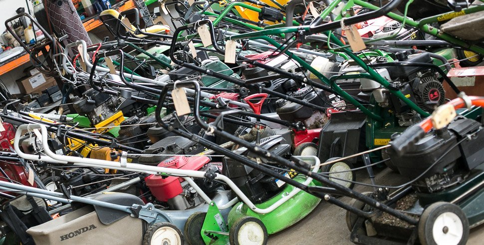 A large selection of second hand walk behind mowers