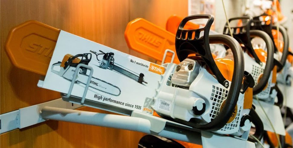 Stihl Chainsaw exhibited in our showroom