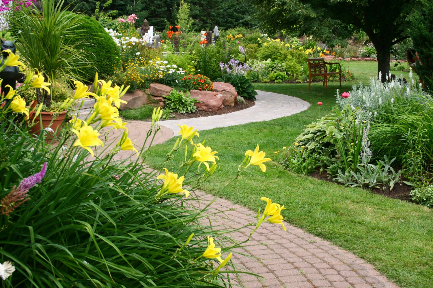 Example of landscaping in Webster, NY