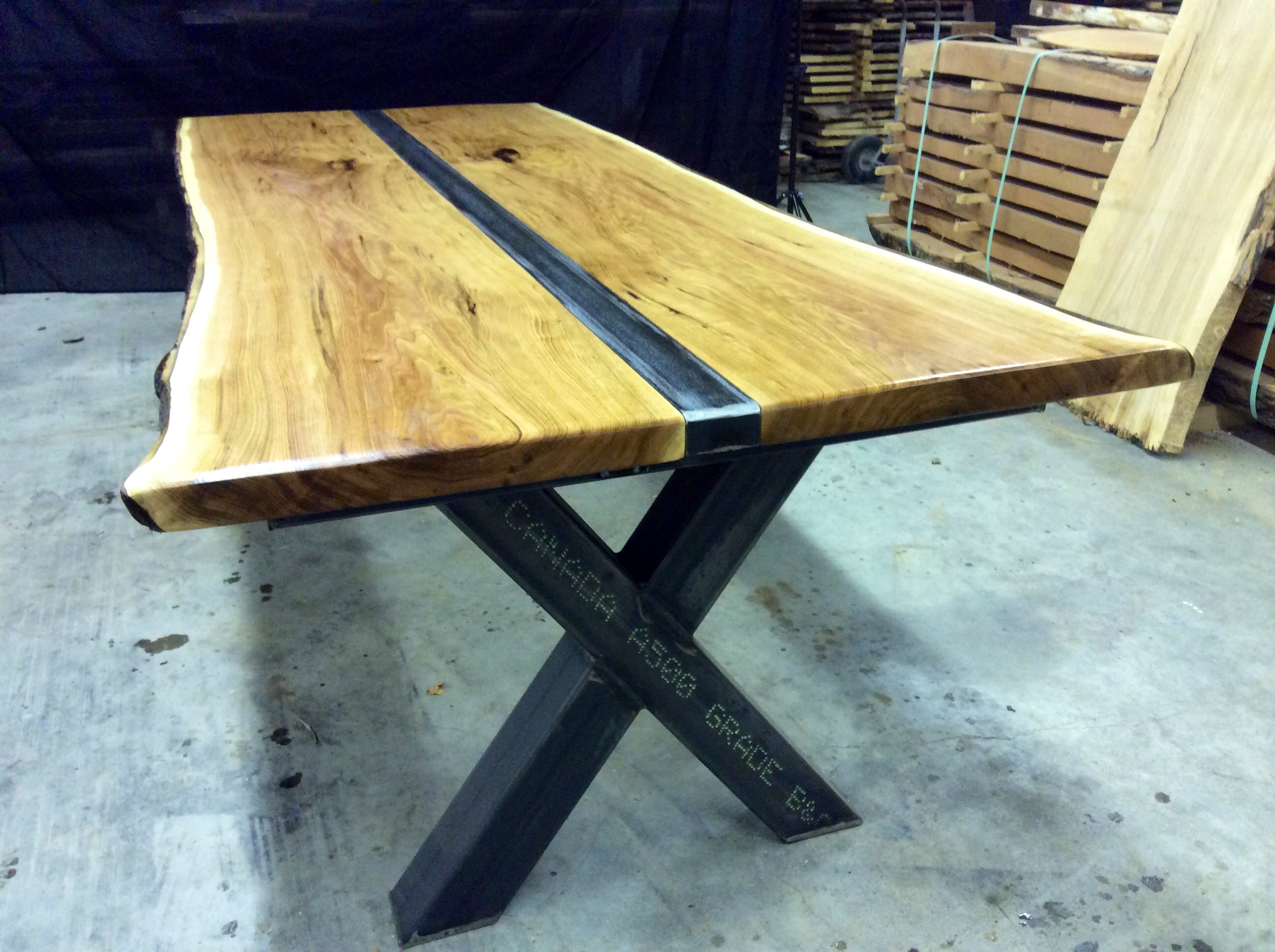 Industrial Wood And Steel Furniture Original Handcrafted