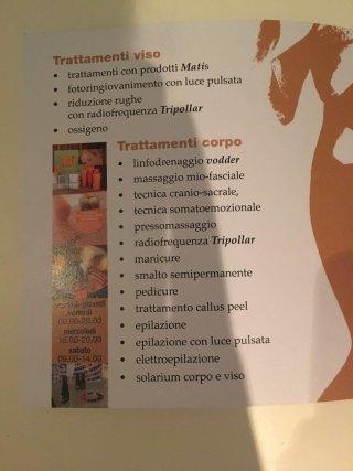 trattamenti viso, corpo